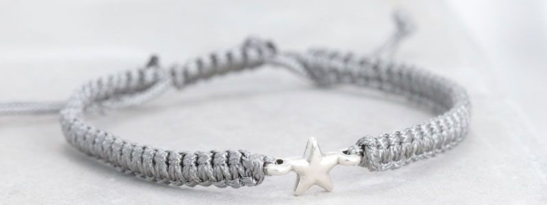 Makramee-Armband Stern