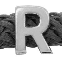 Grip-It Slider Buchstabe R, für Bänder bis 5mm Durchmesser, versilbert