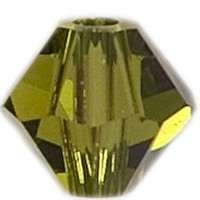 Swarovski Elements Bicone, 6 mm, olivine