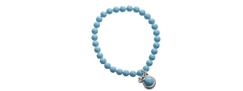 Armband mit Crystal Pearl Cabochons Turquoise