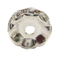 Strass-Rondell, rund, 6 mm, versilbert