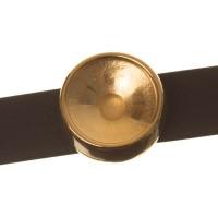 Fassung Slider / Schiebeperle für Swarovski Rivoli 12 mm, vergoldet
