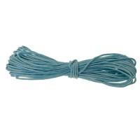 Gewachstes Baumwollband, rund, Durchmesser 0,5 - 0,8 mm, 5 m, azurblau