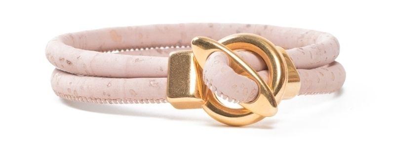 Armband rundes Korkband Rosa