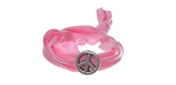Lycra-Armband Pink Peace