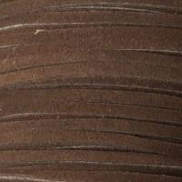 Velourlederband, 2 x 3,2 mm, Länge 1 m, dunkelbraun