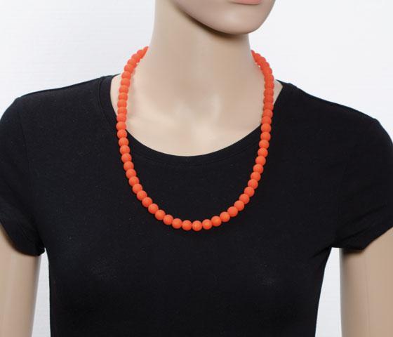 Eine Perlengröße - verschiedene Kettenlängen (50cm)
