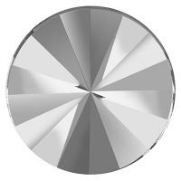 Preciosa Rivoli Flat Back, 10 mm, crystal silver foiling