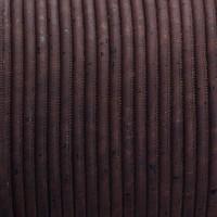 Korkband, Durchmesser 5 mm, Länge 1 m, dunkelbraun