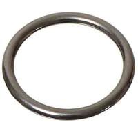 Metall-Element Ring rund, 8 mm, silberfarben glänzend
