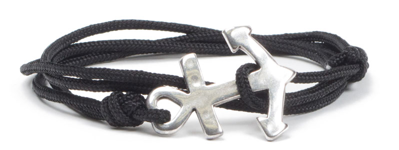 Wickel-Ankerarmband schwarz II
