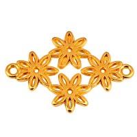 Armbandverbinder Blume, 21 x 25 mm, vergoldet