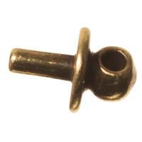 Anhängerkappe mit Öse für Polarisperlen ab 1,8 mm Bohrung, bronzefarben
