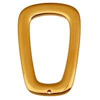 Metallanhänger Viereck mit einem Loch,  45,5 x 28 mm, vergoldet