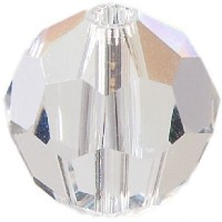 Swarovski Elements, rund, 8 mm, crystal moonlight