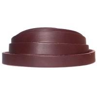 Lederband, 10 x 2 mm, Länge 1 m, dunkelbraun