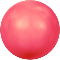 Swarovski Crystal Pearl, rund, 4 mm, neon red