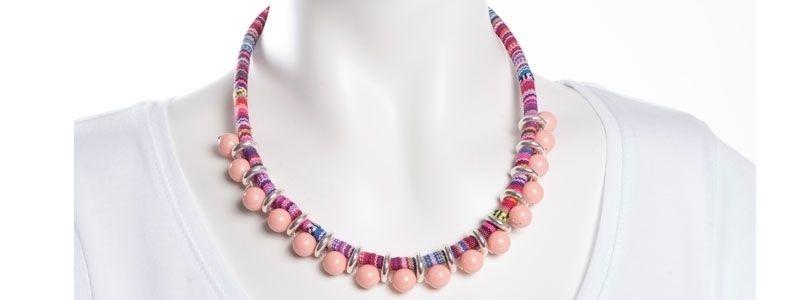 Ethno-Kette Pink Coral