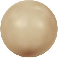 Swarovski Crystal Pearl, rund, 6 mm, Farbe vintage gold