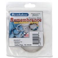 Beadalon Memory-Wire für Armreifen, silberfarben, 7 Gramm (ca. 49 Windungen)