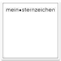 """Schmuckkarte """"Mein Sternzeichen"""", weiß, quadratisch, Größe 8,5 x 8,5 cm"""