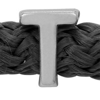 Grip-It Slider Buchstabe T, für Bänder bis 5mm Durchmesser, versilbert