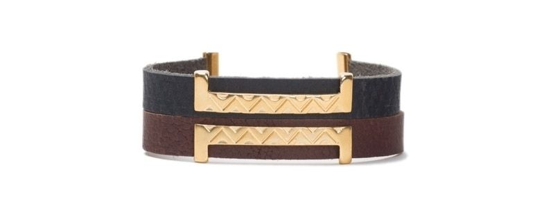 Armband mit Schiebeperlen Doppelslider