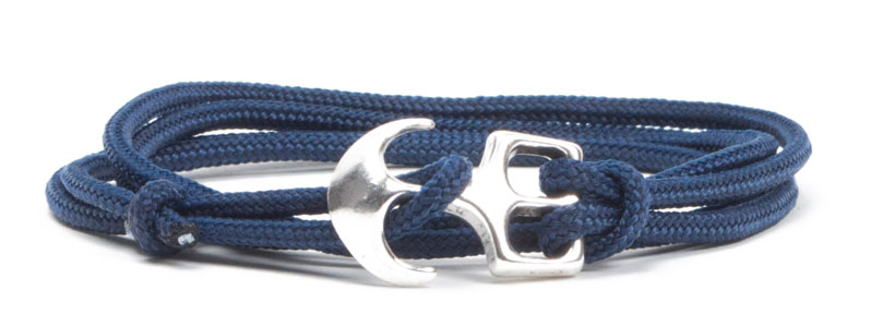Wickel-Ankerarmband dunkelblau