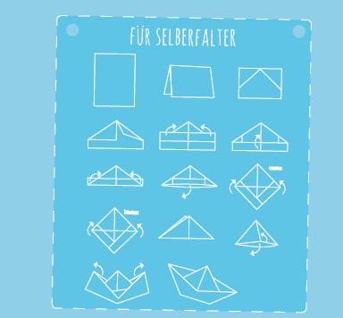 Anleitung zum Falten eines Papierbootes