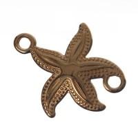 Metallanhänger / Armbandverbinder, Seestern, 23 x 21 mm, vergoldet