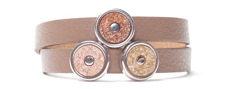 Armband für Tendo Slider mit Polaris Goldstein Cabochons