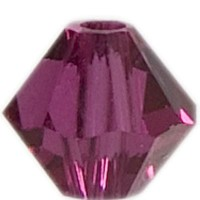 Swarovski Elements Bicone, 6 mm, fuchsia
