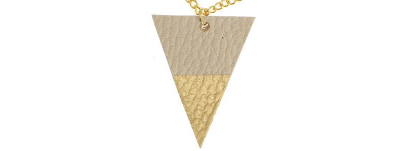 Lederanhänger mit Gliederkette Dreieck