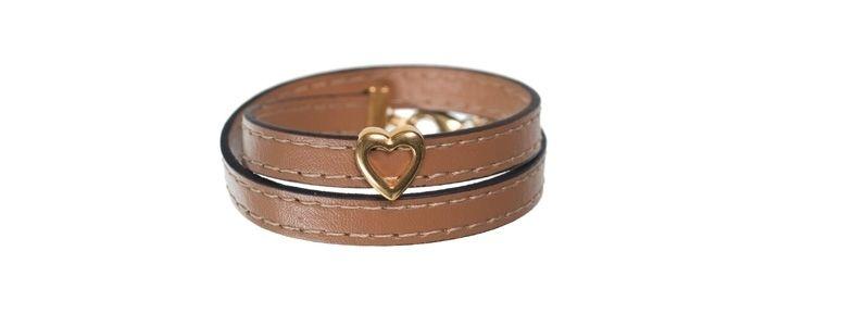 Armband mit Schiebeperle Herz