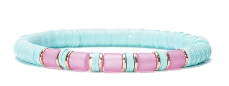 Armband mit Katsuki Perlen Aqua