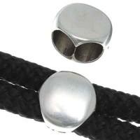 Schieber, rund 12 mm, versilbert, geeignet für 5 mm Segelseil
