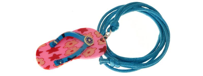 Sommerkette Flip Flop Rosa