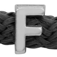 Grip-It Slider Buchstabe F, für Bänder bis 5mm Durchmesser, versilbert