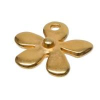 Metallanhänger Blume, vergoldet, ca. 14 mm