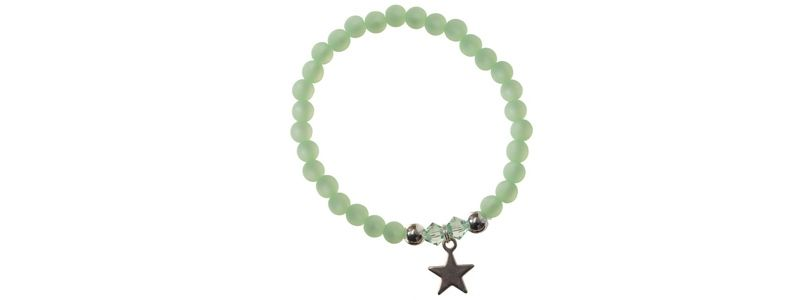 Polaris-Armband Pastellgrün Stern