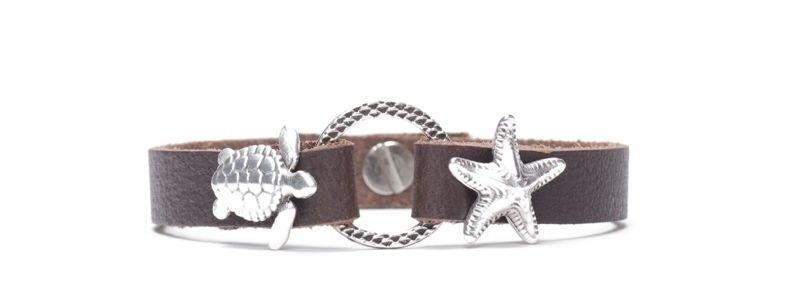 Armband mit Screws Seestern und Schildköte