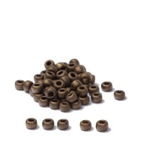 Miyuki Rocailles rund 8/0 (ca. 3 mm), Metallic Dark Bronze, ca. 22 gr