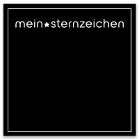 """Schmuckkarte """"Mein Sternzeichen"""", schwarz, quadratisch, Größe 8,5 x 8,5 cm"""
