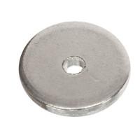 Metallperle Scheibe, ca. 8 mm, versilbert, wie MP546
