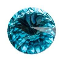 Swarovski Rivoli (1122), 12 mm, light turquoise