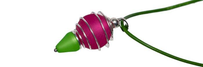 Kette Kegelklunker Himbeer-Grün