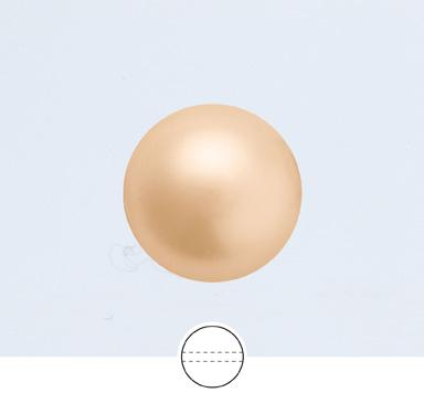 Preciosa 4 mm Nacre Pearl Round