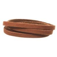 Craft Lederband, 5 mm x 1,5 mm, Länge 1 m, Chestnut