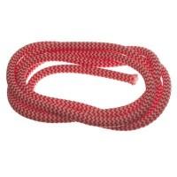 Segelseil / Kordel, Durchmesser 5 mm, Länge 1 m, rot-weiß gestreift