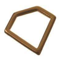 Metallanhänger Diamantform, 8 x 10 mm, vergoldet